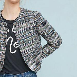 Anthropologie Cropped Tweed Jacket